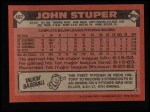 1986 Topps #497  John Stuper  Back Thumbnail