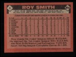 1986 Topps #9  Roy Smith  Back Thumbnail