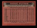 1986 Topps #436  Doug Flynn  Back Thumbnail