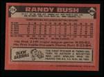 1986 Topps #214  Randy Bush  Back Thumbnail