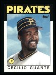 1986 Topps #668  Cecilio Guante  Front Thumbnail