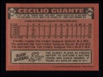 1986 Topps #668  Cecilio Guante  Back Thumbnail