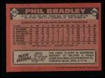 1986 Topps #305  Phil Bradley  Back Thumbnail
