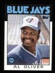1986 Topps #775  Al Oliver  Front Thumbnail