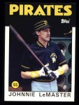 1986 Topps #289  Johnnie LeMaster  Front Thumbnail
