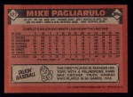 1986 Topps #327  Mike Pagliarulo  Back Thumbnail