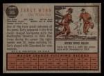 1962 Topps #385  Early Wynn  Back Thumbnail