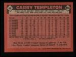 1986 Topps #90  Garry Templeton  Back Thumbnail