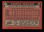 1986 Topps #52  Chris Welsh  Back Thumbnail