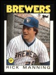 1986 Topps #49  Rick Manning  Front Thumbnail