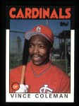 1986 Topps #370  Vince Coleman  Front Thumbnail