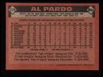 1986 Topps #279  Al Pardo  Back Thumbnail