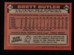 1986 Topps #149  Brett Butler  Back Thumbnail