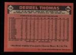 1986 Topps #158  Derrel Thomas  Back Thumbnail