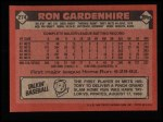1986 Topps #274  Ron Gardenhire  Back Thumbnail