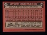 1986 Topps #223  Atlee Hammaker  Back Thumbnail