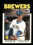 1986 Topps #780  Robin Yount  Front Thumbnail