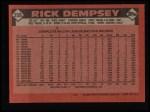 1986 Topps #358  Rick Dempsey  Back Thumbnail