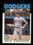 1986 Topps #758  Dave Anderson  Front Thumbnail