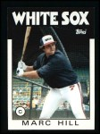 1986 Topps #552  Marc Hill  Front Thumbnail