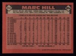 1986 Topps #552  Marc Hill  Back Thumbnail