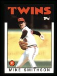 1986 Topps #695  Mike Smithson  Front Thumbnail