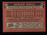 1986 Topps #338  George Bell  Back Thumbnail