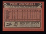1986 Topps #86  Tom Waddell  Back Thumbnail
