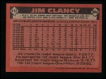 1986 Topps #412  Jim Clancy  Back Thumbnail