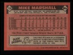 1986 Topps #728  Mike Marshall  Back Thumbnail