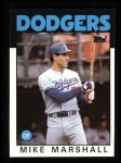 1986 Topps #728  Mike Marshall  Front Thumbnail
