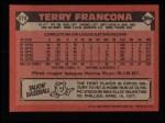 1986 Topps #374  Terry Francona  Back Thumbnail