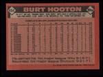 1986 Topps #454  Burt Hooton  Back Thumbnail