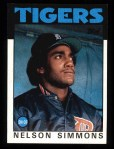 1986 Topps #121  Nelson Simmons  Front Thumbnail