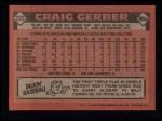 1986 Topps #222  Craig Gerber  Back Thumbnail