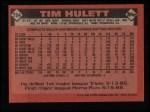 1986 Topps #724  Tim Hulett  Back Thumbnail