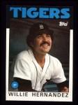 1986 Topps #670  Willie Hernandez  Front Thumbnail