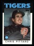 1986 Topps #393  Chris Pittaro  Front Thumbnail