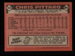 1986 Topps #393  Chris Pittaro  Back Thumbnail
