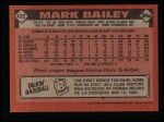 1986 Topps #432  Mark Bailey  Back Thumbnail