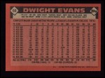 1986 Topps #60  Dwight Evans  Back Thumbnail