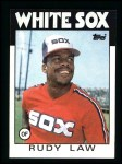 1986 Topps #637  Rudy Law  Front Thumbnail