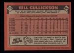 1986 Topps #229  Bill Gullickson  Back Thumbnail