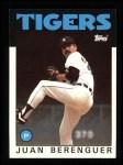 1986 Topps #47  Juan Berenguer  Front Thumbnail