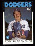 1986 Topps #56  Tom Niedenfuer  Front Thumbnail