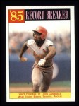 1986 Topps #201   -  Vince Coleman Record Breaker Front Thumbnail