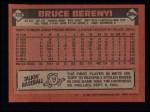 1986 Topps #339  Bruce Berenyi  Back Thumbnail
