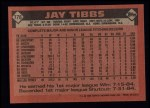 1986 Topps #176  Jay Tibbs  Back Thumbnail