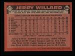 1986 Topps #273  Jerry Willard  Back Thumbnail