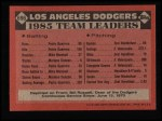 1986 Topps #696   Dodgers Leaders Back Thumbnail